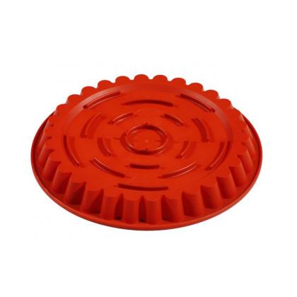 Molde de silicona FRT056 Redondo Estriado con fondo rialzato (Ø300h30mm) Formaflex Cake, Pavoni