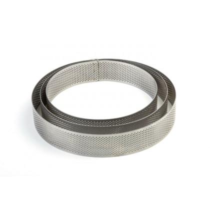 Aro microperforado de acero inoxidable XF1935 (Ø190xh35mm) Progetto Crostate, Pavoni