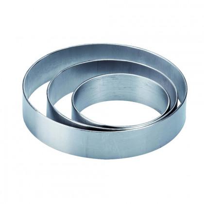 Aro de acero inoxidable monoporción X0802 (Ø8h2cm) Progetto Crostate, Pavoni