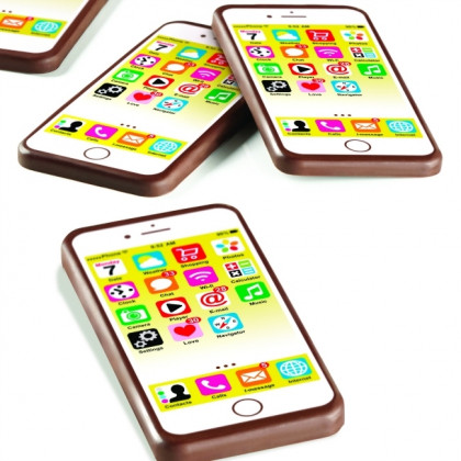 Molde serigrafiado Pantalla Smartphone T852 iChoc (137x67h7mm) Choco High Tech - 60 figuras, Pavoni