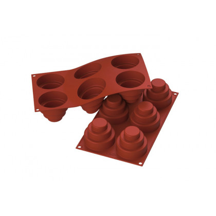 Molde de silicona SF148 Mini Wonder Cakes Ø75h60mm (6 porciones) SiliconFlex, Silikomart