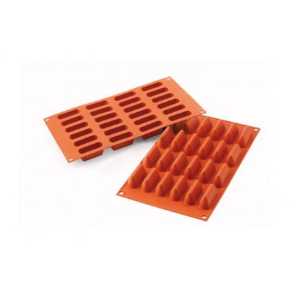 Molde de silicona SF125 Chocogianduia 50x18xh23,5mm (24 porciones) SiliconFlex, Silikomart