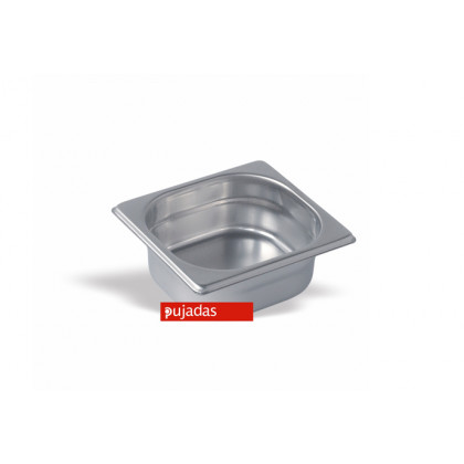Cubeta Gastronorm 1/6 inox 18/10 1l (176x162h65mm), Pujadas