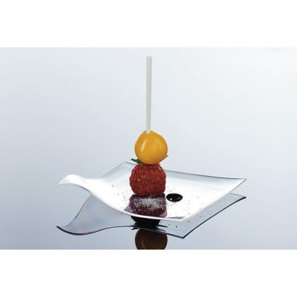Pincho degustación Hola transparente (83mm), 100%Chef - 1000 unidades
