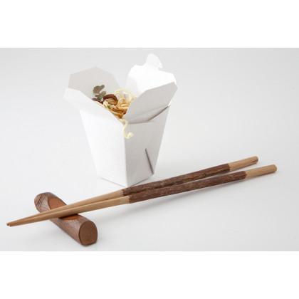 Noodle Box blanca (5x5x5cm), 100%Chef - 100 unidades