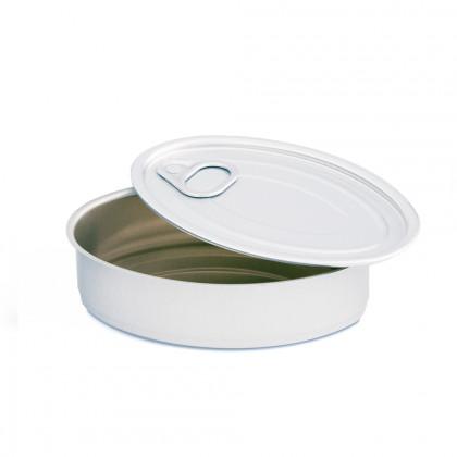 Lata Oval Aluminio (115x75x30mm), 100%Chef - 235 unidades