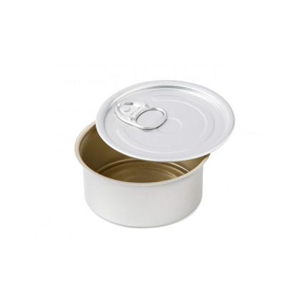 Lata redonda aluminio con tapa 100ml (Ø80x35mm), 100%Chef - 100 unidades