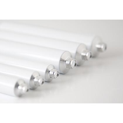 Tubo de aluminio blanco (7ml), 100%Chef - 100 unidades