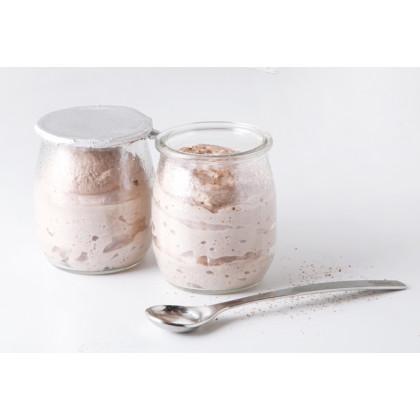Bote vidrio Yogur 120ml (Ø5x7cm), 100%Chef - 100 unidades