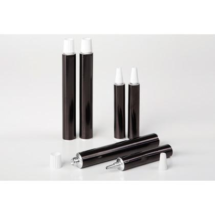 Tubo de aluminio negro (7ml), 100%Chef - 100 unidades