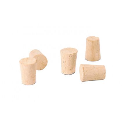Tapones de corcho para tubos de Ø16mm, 100%Chef - 200 unidades