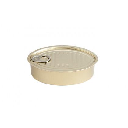 Lata hojalata oval con tapa 240ml (130x85x38mm) - 50 unidades, 100%Chef