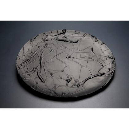 Plato mate Stucco negro (Ø27x1cm), 100%Chef