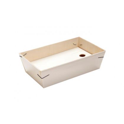Barca madera para ración o tapa (21x13x5cm), 100%Chef - 5 unidades