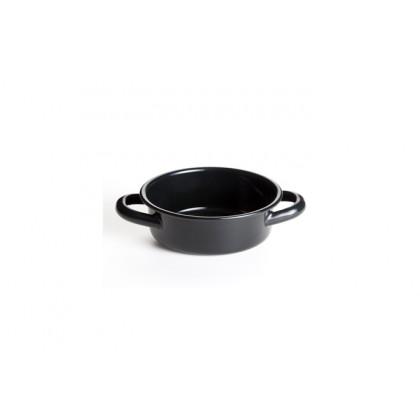 Fuente negra 250ml, Retro Miniatures (Ø12x4cm), 100%Chef - 12 unidades