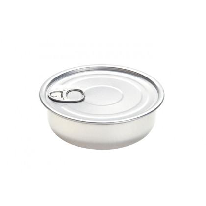 Lata Bowl de aluminio con tapa 150ml (Ø105xh35mm) - 100 unidades, 100%Chef
