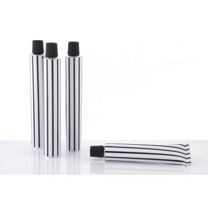 Tubos de aluminio 30ml zebra - 100 unidades, 100%Chef