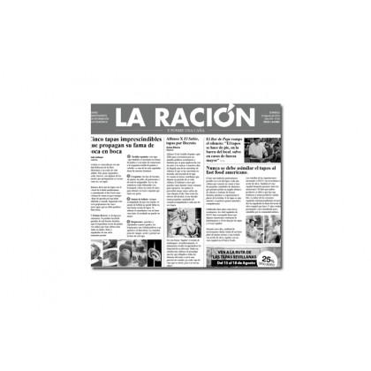 Papel de periodico La Ración (300x290mm), 100%Chef - 500 unidades
