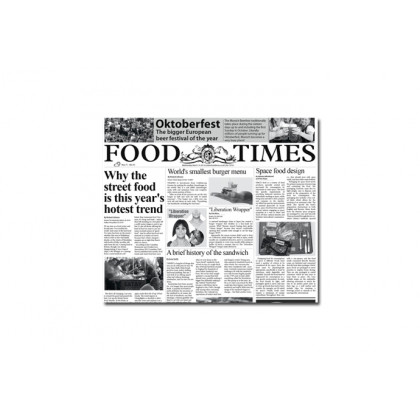 Papel de periodico Food Times (300x290mm), 100%Chef - 500 unidades