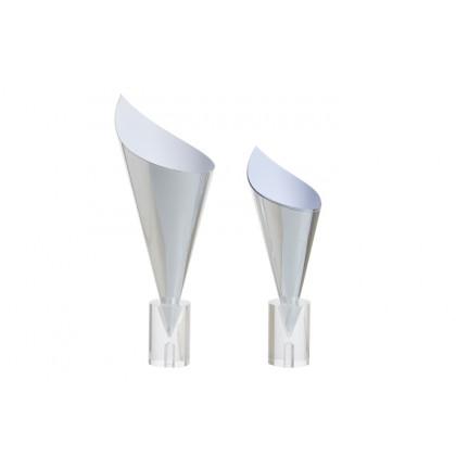 Cono cartón plata XL (Ø90x160/105mm), 100%Chef - 100 unidades