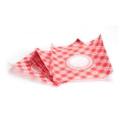 Mantel mini parafinado (11x11cm) - 500 unidades, 100%Chef