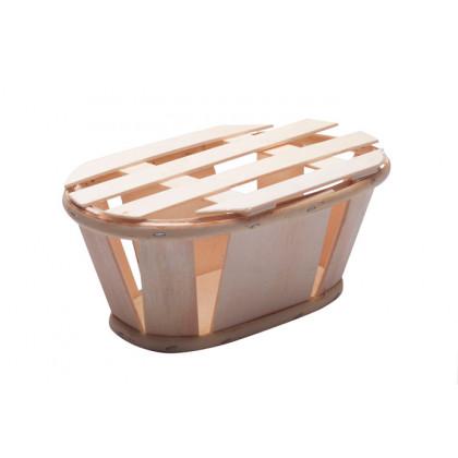 Caja fruta oval mini (16x10x7cm), 100%Chef - 5 unidades
