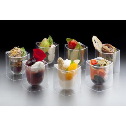 Vasito de Degustación Transparente 40ml (50x50h58mm) - 144 unidades, Tast