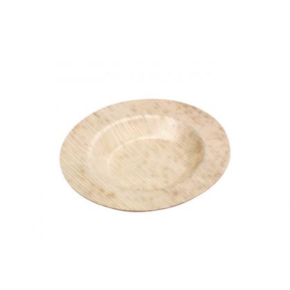 Plato llano palma natural (90x90xh9mm), 100%Chef - 50 unidades