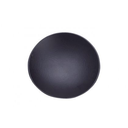 Plato redondo bambú lacado negro mate (Ø60mm), 100%Chef - 10 unidades