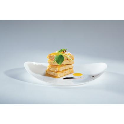 Plato llano degustación Sphera transparente (97x79x15mm), 100%Chef - 200 unidades