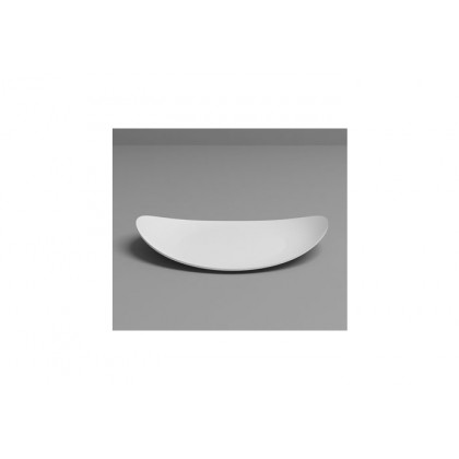 Plato llano degustación Sphera blanco (97x79x15mm), 100%Chef - 200 unidades