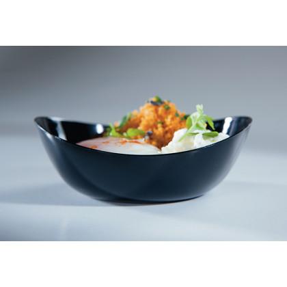 Plato hondo degustación Sphera negro (80ml), 100%Chef - 100 unidades