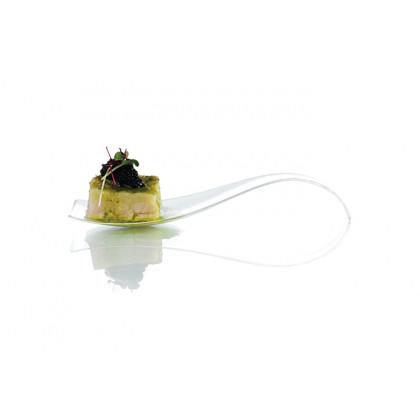 Cuchara degustación Hola transparente (121mm) - 200 unidades, 100%Chef