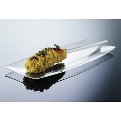 Bandeja individual degustación Hola transparente (200x70xh8mm) - 100 unidades, 100%Chef