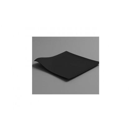 Plato llano degustación Hola negro (127x127x15mm) - 100 unidades, 100%Chef