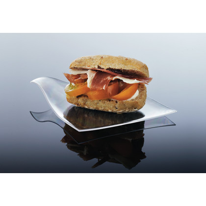 Plato mini degustación Hola transparente (80x80mm) - 100 unidades, 100%Chef