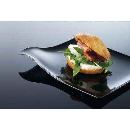 Plato mini degustación Hola negro (80x80mm) - 100 unidades, 100%Chef
