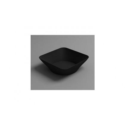 Plato mini hondo degustación Hola negro (70ml), 100%Chef - 125 unidades