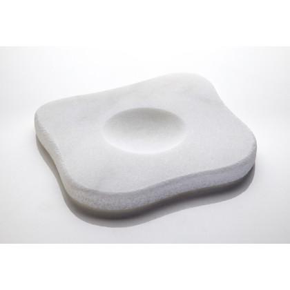 White Moon, plato de mármol (16x16cm), 100%Chef