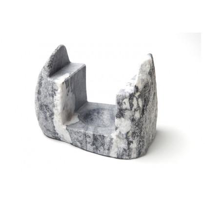 Soporte de mármol Himalaya gris (15x10x12cm), 100%Chef