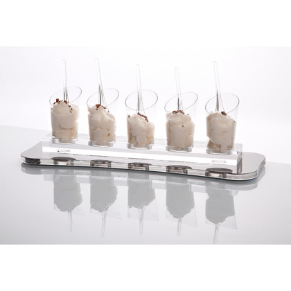 Bandeja base Deli plata (32x11x1cm), 100%Chef - 6 unidades