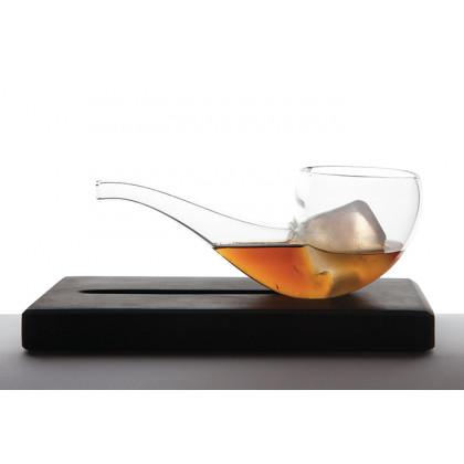 Smoke & Drink, pipa cristal + soporte de mármol, 100%Chef