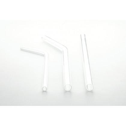 Pajita de cristal recta gruesa (Ø9x200mm), 100%Chef - 24 unidades