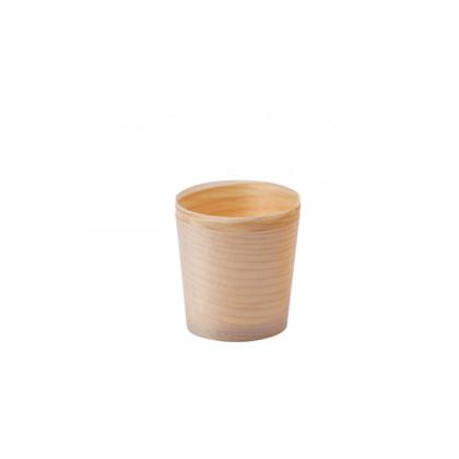 Vasito de madera XS (Ø45xh45mm), 100%Chef - 100 unidades