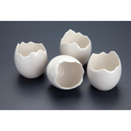 Huevo roto de porcelana 50ml (Ø4x5cm), 100%Chef - 10 unidades