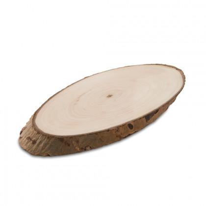 Plato de madera Alamo (23x11x1cm), 100%Chef - 10 unidades