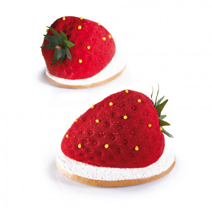 Molde de Silicona PX4333 Strawberry 71x54h46mm (20 porciones) TuttiFrutti, Pavoni