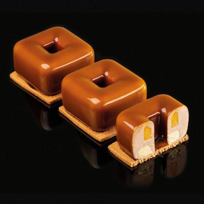 Molde de silicona PX4361 Tulum 54x56h34mm (12 porciones) PavoFlex 300X400, Pavoni