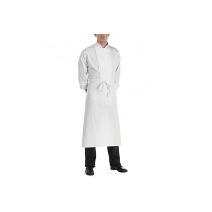 Delantal Francés Blanco 100% Algodón (90x110cm), EgoChef - 2 unidades