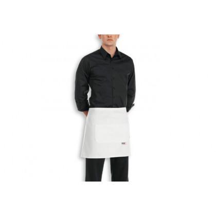 Delantal Cintura Bolsillo Central Blanco 100% Algodón (40x70cm), EgoChef - 2 unidades